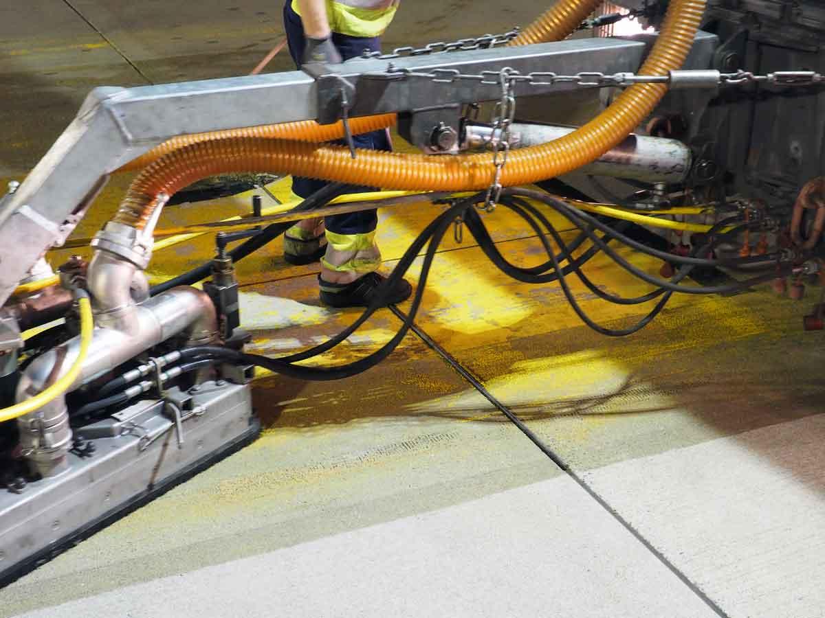 Demarkierung BGS Strate Wasserhochdrucktechnik