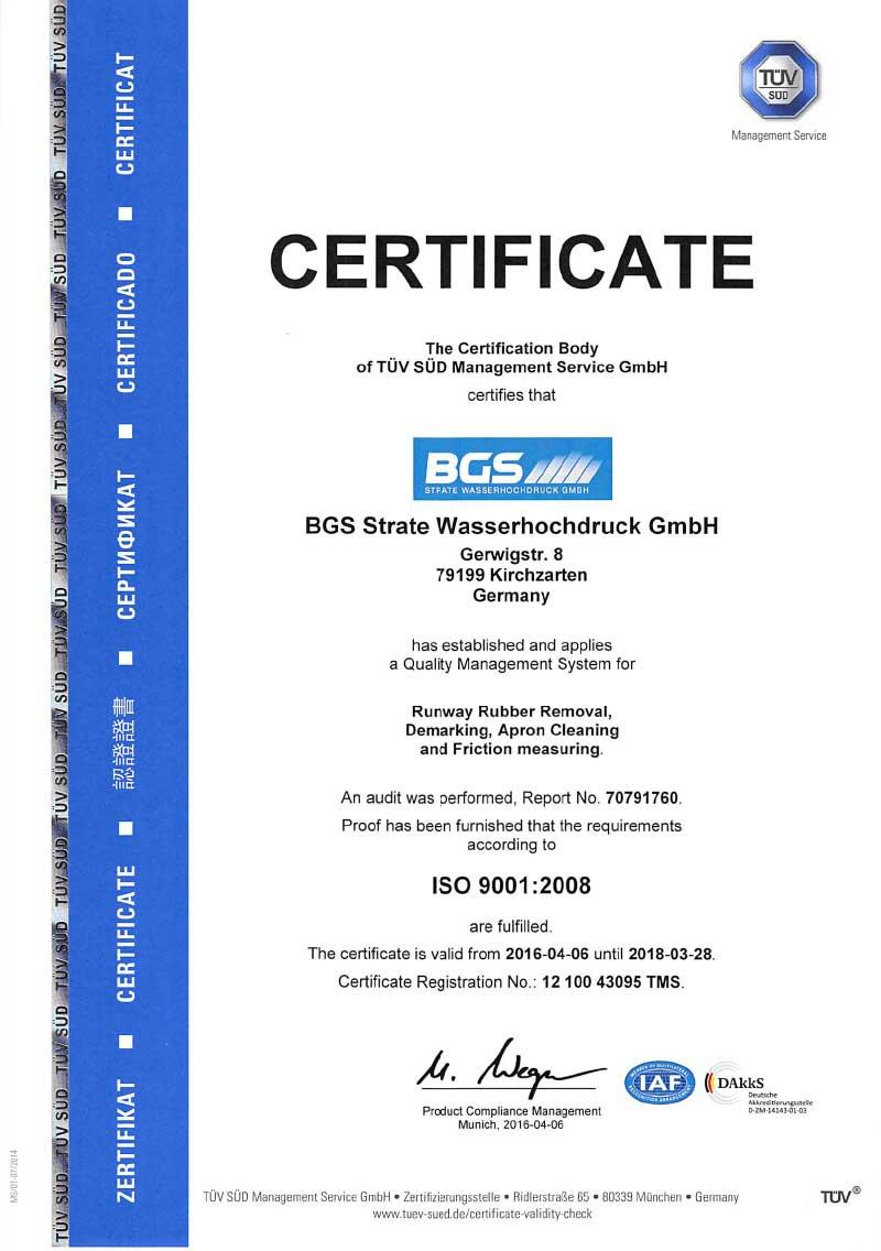 ISO-9001-Zertifikat-BGS-Strate-Wasserhochdrucktechnik-GmbH